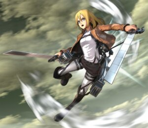 Rating: Safe Score: 13 Tags: cg christa_lenz shingeki_no_kyojin sword User: Radioactive