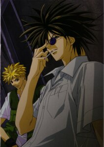 Rating: Safe Score: 2 Tags: amano_ginji dress_shirt get_backers male megane mido_ban User: charunetra