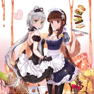 Rating: Safe Score: 43 Tags: cleavage guaizi luo_tianyi maid skirt_lift thighhighs vocaloid yuezheng_ling User: Mr_GT
