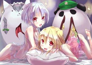 Rating: Questionable Score: 24 Tags: flandre_scarlet lingerie loli nagisa_(imizogami) pantsu remilia_scarlet see_through touhou wings User: itsu-chan