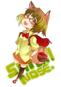 Rating: Safe Score: 15 Tags: animal_ears megane nekomimi pun2 thighhighs User: Nekotsúh