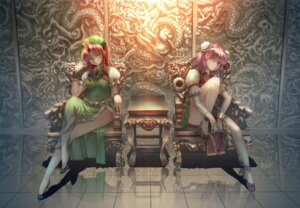 Rating: Safe Score: 30 Tags: asian_clothes heels hong_meiling ibaraki_kasen jian_zi touhou User: Mr_GT