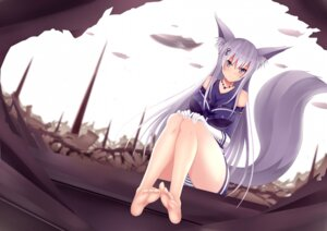 Rating: Questionable Score: 38 Tags: animal_ears feet jpeg_artifacts kitsune pantsu shimapan tail User: MurakumoJP