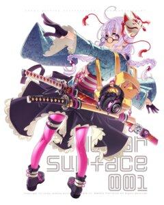 Rating: Safe Score: 11 Tags: garter headphones heels japanese_clothes megane pantyhose possible_duplicate sakuya_tsuitachi sword User: Dreista