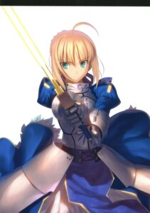 Rating: Safe Score: 40 Tags: armor fate/stay_night fate/zero saber sword takeuchi_takashi type-moon User: fireattack