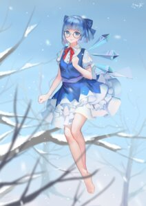 Rating: Safe Score: 23 Tags: cirno dress kamachi_kamachi-ko megane touhou wings User: Mr_GT
