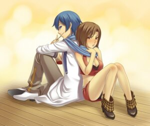 Rating: Safe Score: 5 Tags: kaito meiko pantsu terumii vocaloid User: Radioactive
