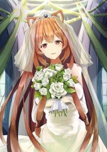 Rating: Safe Score: 40 Tags: animal_ears banzai_mon dress raphtalia tate_no_yuusha_no_nariagari wedding_dress User: Mr_GT