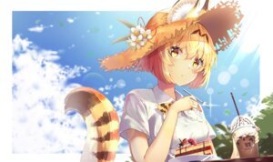 Rating: Safe Score: 30 Tags: animal_ears animal_ears_(artist) kemono_friends serval tail User: BattlequeenYume