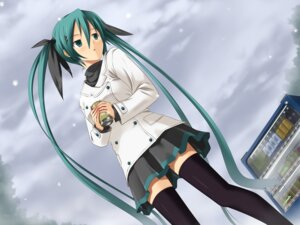 Rating: Safe Score: 37 Tags: hatsune_miku koikeya thighhighs vocaloid wallpaper User: Spetsnaz-13