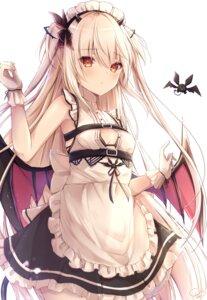 Rating: Questionable Score: 37 Tags: bra kiri_serea maid open_shirt tail wings User: BattlequeenYume