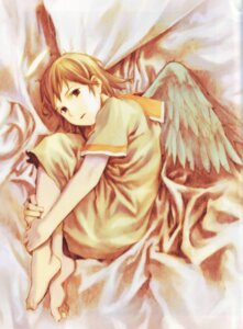 Rating: Safe Score: 9 Tags: abe_yoshitoshi haibane_renmei rakka wings User: Davison