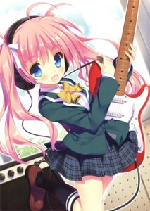 Rating: Safe Score: 49 Tags: guitar seifuku shimesaba_kohada User: Twinsenzw