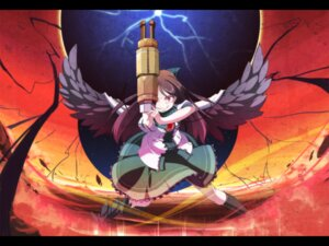 Rating: Safe Score: 9 Tags: asakura_masatoki reiuji_utsuho touhou wallpaper wings User: Radioactive