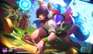 Rating: Safe Score: 16 Tags: ahri alex_flores animal_ears headphones kitsune league_of_legends possible_duplicate tagme tail thighhighs weapon User: Radioactive
