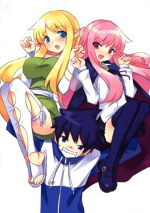 Rating: Safe Score: 23 Tags: hiiraga_saito louise thighhighs tiffania usatsuka_eiji zero_no_tsukaima User: Radioactive