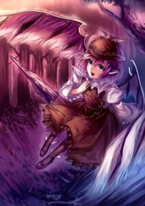Rating: Safe Score: 9 Tags: dress mystia_lorelei pantyhose touhou uu_uu_zan wings User: charunetra