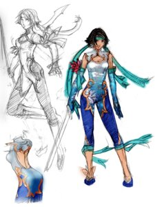 Rating: Safe Score: 3 Tags: chai_xianghua character_design sketch soul_calibur sword weapon User: Yokaiou