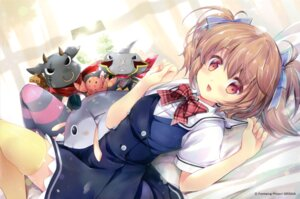 Rating: Safe Score: 38 Tags: endcard grisaia_no_kajitsu irisu_makina seifuku suihi thighhighs User: fireattack