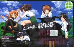 Rating: Safe Score: 25 Tags: akiyama_yukari girls_und_panzer headphones isuzu_hana nishizumi_miho reizei_mako seifuku sugimoto_isao takebe_saori thighhighs User: dansetone