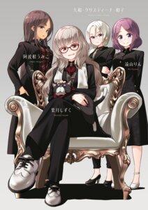 Rating: Safe Score: 16 Tags: ahagon_umiko business_suit dress hazuki_shizuku heels megane neko new_game! tokunou_shoutarou tooyama_rin yamato_christina_wako User: kiyoe