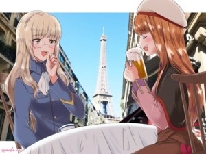 Rating: Safe Score: 10 Tags: crossover holo megane perrine-h_clostermann spice_and_wolf strike_witches tagme uniform User: dick_dickinson
