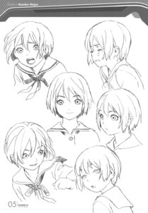 Rating: Safe Score: 8 Tags: character_design houjou_kuniko monochrome range_murata shangri-la sketch User: Share