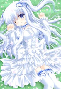 Rating: Safe Score: 41 Tags: dress shimotsuki_keisuke thighhighs User: 椎名深夏