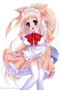 Rating: Safe Score: 30 Tags: asuku_san itsuka_todoku_anosorani maid moekibara_fumitake thighhighs User: androgyne