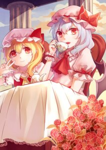 Rating: Safe Score: 20 Tags: flandre_scarlet mao_wan pointy_ears remilia_scarlet touhou wings User: Mr_GT