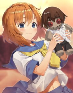 Rating: Questionable Score: 19 Tags: chibi higurashi_no_naku_koro_ni kabu_(niniko2ko) maebara_keiichi ryuuguu_rena see_through seifuku User: Dreista