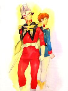 Rating: Safe Score: 3 Tags: amuro_ray char_aznable gundam male mobile_suit_gundam yasuhiko_yoshikazu User: Radioactive