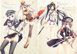 Rating: Questionable Score: 28 Tags: cleavage digital_version fixme gap pantsu sword tatekawa_mako thighhighs uniform User: Twinsenzw
