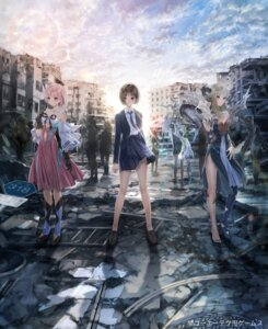 Rating: Questionable Score: 26 Tags: blue_reflection blue_reflection_ray blue_reflection_sun blue_reflection_tie business_suit cleavage dress horns kishida_mel pantyhose pointy_ears seifuku skirt_lift tagme wings User: Dreista
