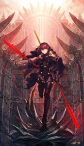 Rating: Safe Score: 53 Tags: armor bodysuit fate/grand_order nakamura_eito scathach_(fate/grand_order) signed thighhighs weapon User: mash