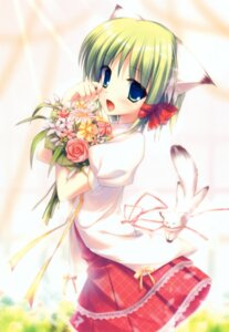 Rating: Safe Score: 35 Tags: animal_ears fujisaki_rei greenwood midori nekomimi User: midzki