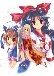 Rating: Safe Score: 23 Tags: nakoruru nanase_aoi rimururu samurai_spirits suzuhime sword User: Riven