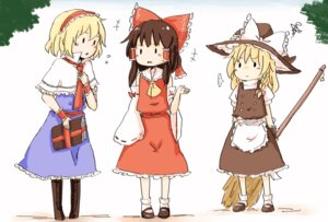 Rating: Safe Score: 10 Tags: alice_margatroid hakurei_reimu hiroya_masaharu kirisame_marisa touhou User: Radioactive