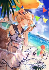 Rating: Questionable Score: 10 Tags: animal_ears arknights bikini gum_(arknights) see_through skirt_lift swimsuits xiaying User: yanis
