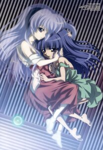 Rating: Questionable Score: 26 Tags: dress furude_rika hanyuu higurashi_no_naku_koro_ni horns miko nopan undressing yahiro_yuuko User: Velen