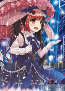 Rating: Safe Score: 35 Tags: animal_ears bunny_ears dress hyouta_(nekogamirin_c) tattoo umbrella User: Mr_GT