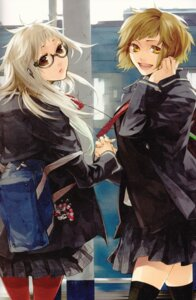 Rating: Safe Score: 12 Tags: kazuaki megane seifuku thighhighs User: Radioactive