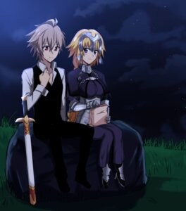 Rating: Safe Score: 7 Tags: armor fate/apocrypha fate/stay_night jeanne_d'arc jeanne_d'arc_(fate) nyorotono sieg_(fate/apocrypha) sword weapon User: shevchenko