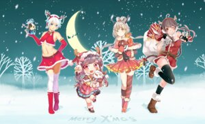 Rating: Safe Score: 18 Tags: christmas dongqing_zaozigao dress horns luo_tianyi mo_qingxian thighhighs vocaloid yuezheng_ling yuezheng_longya User: Mr_GT
