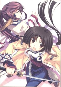 Rating: Safe Score: 10 Tags: amaduyu_tatsuki animal_ears cosplay eruruu leaf sword tail touka utawarerumono User: Riven