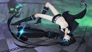 Rating: Questionable Score: 54 Tags: bikini_top black_rock_shooter black_rock_shooter_(character) gun heels open_shirt thank_star User: Mr_GT