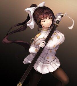 Rating: Safe Score: 20 Tags: azur_lane kibellin pantyhose sword takao_(azur_lane) uniform User: charunetra