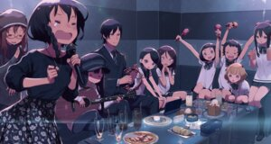 Rating: Safe Score: 17 Tags: asougi_goushi business_suit guitar kanzaki_elsa kohiruimaki_karen kuroboshi_kouhaku megane seifuku shinohara_miyu sword_art_online_alternative:_gun_gale_online User: kiyoe