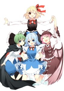 Rating: Safe Score: 20 Tags: cirno jeminl mystia_lorelei rumia touhou wriggle_nightbug User: fairyren