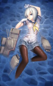 Rating: Questionable Score: 70 Tags: dobunezumi hamakaze_(kancolle) kantai_collection nipples no_bra pantyhose see_through seifuku wet wet_clothes User: Mr_GT